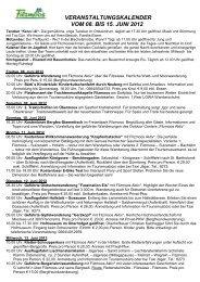 veranstaltungskalender vom 08. bis 15. juni 2012 - Filzmoos