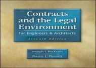 [+]The best book of the month Contracts and the Legal Environment for Engineers and Architects  [NEWS]