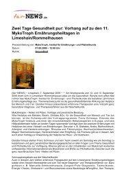 PDF :: fair-NEWS.de :: Zwei Tage Gesundheit pur: Vorhang auf zu ...