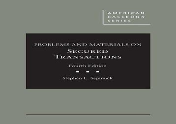 [+]The best book of the month Problems and Materials on Secured Transactions - CasebookPlus (American Casebook Series (Multimedia))  [READ]