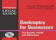 [+]The best book of the month Bankruptcy for Businesses: The Benefits, Pitfalls, and Alternatives: Steps to Take to Avoid Bankruptcy, Non-Bankruptcy Alternatives, and the New [Wit (Entrepreneur Magazine s Legal Guide) [PDF]