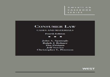 [+]The best book of the month Consumer Law (American Casebook Series)  [FREE]