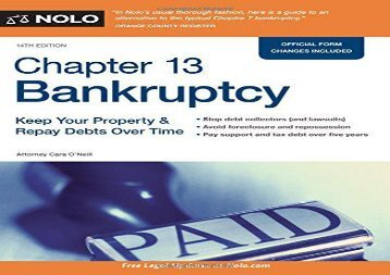 [+]The best book of the month Chapter 13 Bankruptcy: Keep Your Property   Repay Debts Over Time  [DOWNLOAD]
