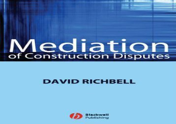 [+][PDF] TOP TREND Mediation of Construction Disputes  [NEWS]