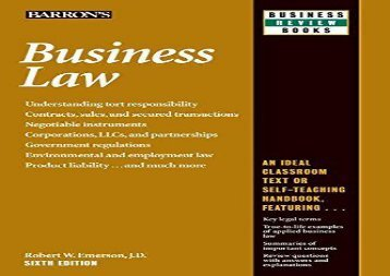 [+][PDF] TOP TREND Business Law (Barron s Business Review)  [FULL]