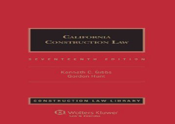 [+][PDF] TOP TREND California Construction Law, Seventeenth Edition (Construction Law Library) [PDF]