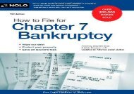 [+][PDF] TOP TREND How to File for Chapter 7 Bankruptcy  [DOWNLOAD]