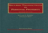 [+][PDF] TOP TREND Warren and Walt s Secured Transactions in Personal Property, 8th (University Casebook)  [DOWNLOAD]