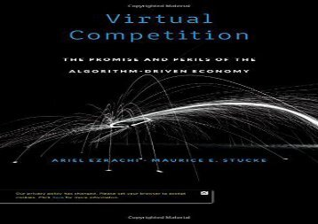 [+][PDF] TOP TREND Virtual Competition: The Promise and Perils of the Algorithm-Driven Economy  [FULL]