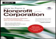 [+]The best book of the month How to Form a Nonprofit Corporation [With CDROM] (How to Form a Nonprofit Corporation (W/Disk)) [PDF]