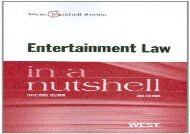 [+]The best book of the month Entertainment Law in a Nutshell (Nutshell Series)  [READ]