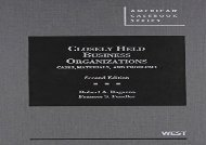 [+]The best book of the month Closely Held Business Organizations: Cases, Materials, and Problems 2d (American Casebook Series)  [DOWNLOAD]