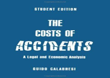 [+][PDF] TOP TREND The Costs of Accidents: Legal and Economic Analysis  [READ]