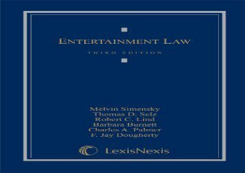 [+]The best book of the month Entertainment Law [PDF]