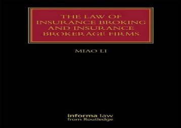 [+][PDF] TOP TREND The Law of Insurance Broking and Insurance Brokerage Firms (Lloyd s Insurance Law Library)  [READ]