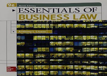 [+]The best book of the month Essentials of Business Law  [FULL]