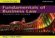[+][PDF] TOP TREND Cengage Advantage Books: Fundamentals of Business Law: Excerpted Cases  [FREE]