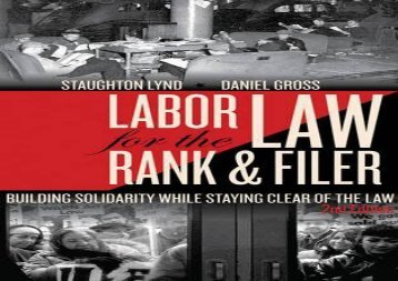 [+][PDF] TOP TREND Labor Law for the Rank and Filer, Second Edition : While Staying Clear  [FULL]