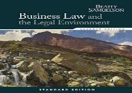 [+]The best book of the month Business Law and the Legal Environment, Standard Edition (Business Law and the Legal Enivorment)  [DOWNLOAD]