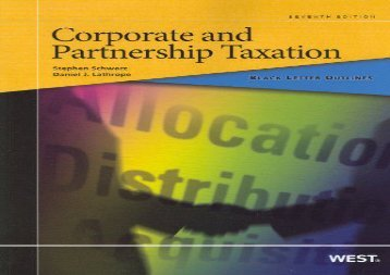 [+]The best book of the month Black Letter Outline on Corporate and Partnership Taxation  [DOWNLOAD]