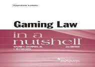 [+][PDF] TOP TREND Gaming Law in a Nutshell (Nutshell Series)  [FREE]