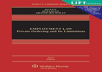[+]The best book of the month Employment Law: Private Ordering and Its Limitations (Aspen Casebook)  [READ]