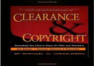 [+][PDF] TOP TREND Clearance   Copyright: Everything You Need to Know from Film   Television [PDF]