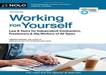 [+]The best book of the month Working for Yourself: Law   Taxes for Independent Contractors, Freelancers   Gig Workers of All Types  [READ]