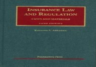 [+][PDF] TOP TREND Insurance Law and Regulation (University Casebook Series)  [READ]