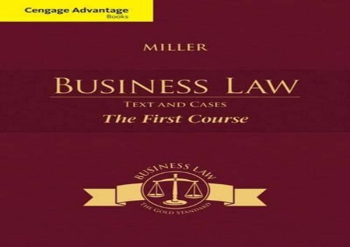 PDF] TOP TREND Cengage Advantage Books: Business Law: Text