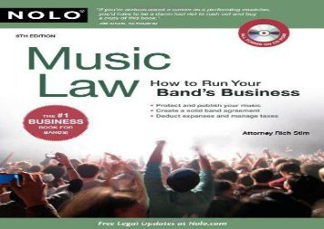 [+][PDF] TOP TREND Music Law: How to Run Your Band s Business [With CDROM]  [DOWNLOAD]