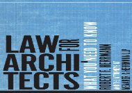 [+]The best book of the month Law for Architects: What You Need to Know  [READ]