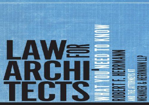 Law for Architects: What You Need to Know