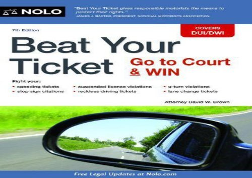 [+]The best book of the month Beat Your Ticket: Go to Court   Win  [FREE]
