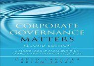 [+]The best book of the month Corporate Governance Matters: A Closer Look at Organizational Choices and Their Consequences  [FULL]