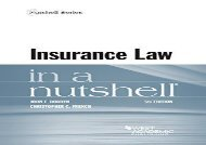 [+]The best book of the month Insurance Law in a Nutshell (Nutshell Series) [PDF]