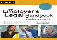 [+][PDF] TOP TREND The Employer s Legal Handbook: Manage Your Employees   Workplace Effectively  [FREE]