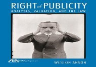[+]The best book of the month Right of Publicity: Analysis, Valuation and the Law  [DOWNLOAD]