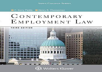 Download ebook basic labor and employment law for paralegals second pdf top trend contemporary employment law aspen college fandeluxe Image collections