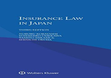 [+]The best book of the month Insurance Law in Japan  [READ]