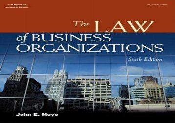 [+]The best book of the month The Law of Business Organizations (West Legal Studies Series)  [NEWS]