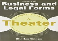 [+]The best book of the month Business and Legal Forms for Theater, Second Edition (Business and Legal Forms Series)  [DOWNLOAD]