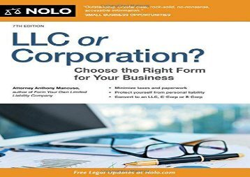 [+][PDF] TOP TREND LLC or Corporation?: Choose the Right Form for Your Business  [FREE]