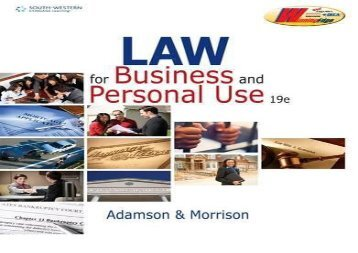 [+]The best book of the month Law for Business and Personal Use  [NEWS]