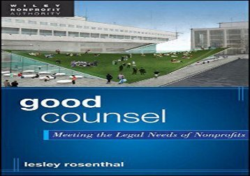 [+][PDF] TOP TREND Good Counsel: Meeting the Legal Needs of Nonprofits  [DOWNLOAD]