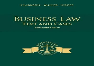 [+][PDF] TOP TREND Business Law: Text and Cases  [FREE]