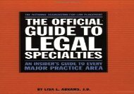 [+][PDF] TOP TREND Official Guide to Legal Specialties (Career Guides)  [NEWS]
