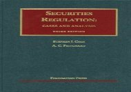 [+]The best book of the month Securities Regulation: Cases and Analysis (University Casebook Series)  [FULL]