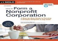 [+]The best book of the month How to Form a Nonprofit Corporation: A Step-By-Step Guide to Forming a 501(c)(3) Nonprofit in Any State (How to Form Your Own Nonprofit Corporation)  [READ]