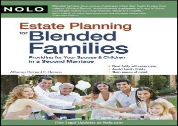 [+]The best book of the month Estate Planning for Blended Families: Providing for Your Spouse   Children in a Second Marriage  [NEWS]
